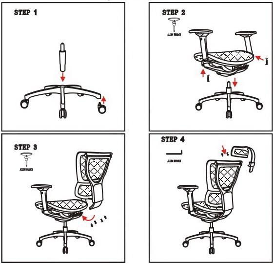 Инструкция по сборке кресла Mirus White